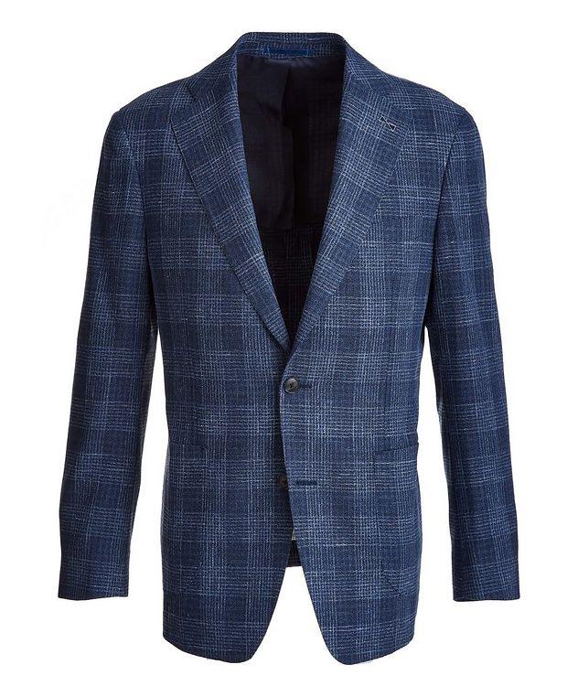 Plaid Wool-Cotton-Silk-Linen Sport Jacket picture 1