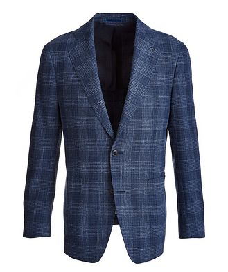 Atelier Munro Plaid Wool-Cotton-Silk-Linen Sport Jacket