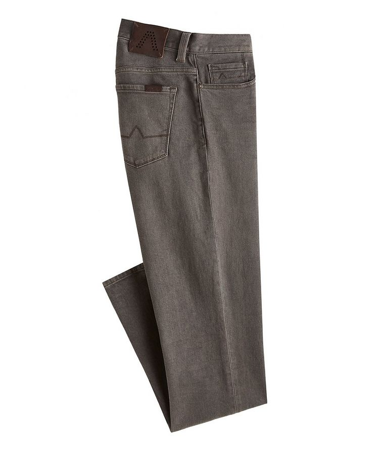 Pipe Overdyed Vintage Cotton-Blend Jeans image 0