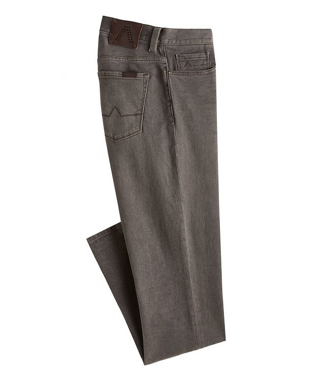 Pipe Overdyed Vintage Cotton-Blend Jeans picture 1