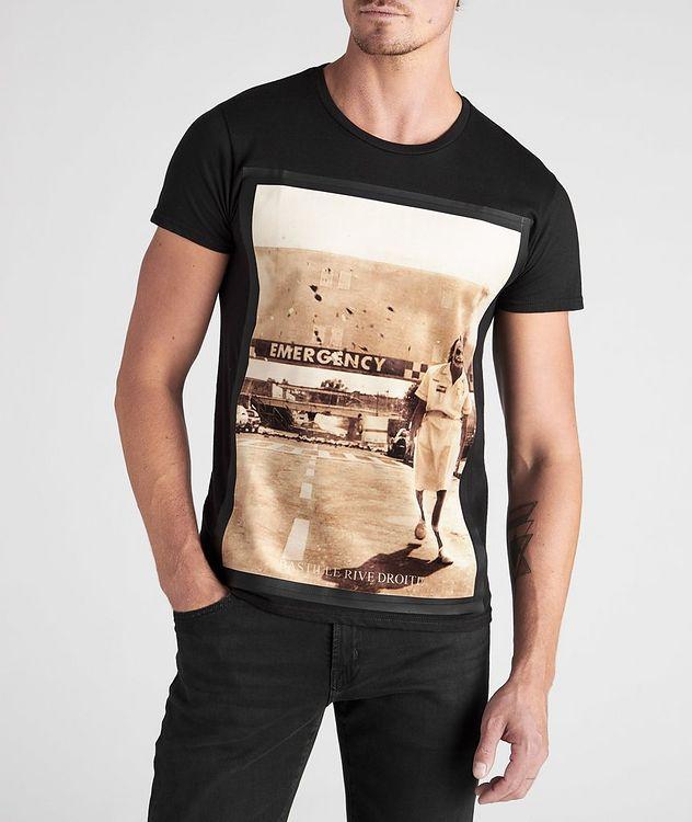 Emergency Villain Print Cotton T-Shirt picture 2