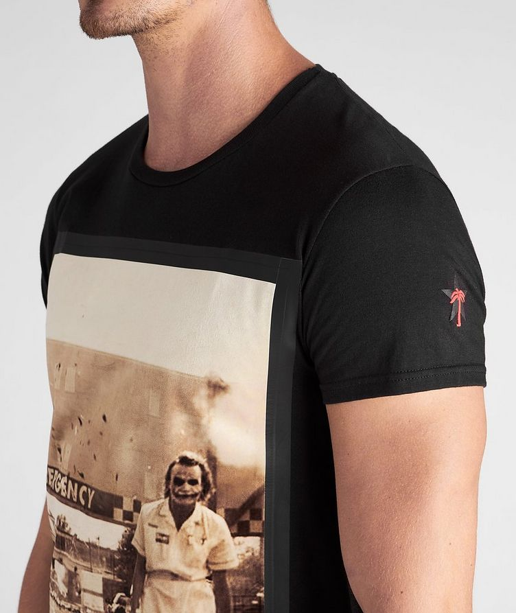 Emergency Villain Print Cotton T-Shirt image 3