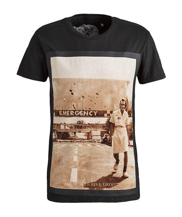 Emergency Villain Print Cotton T-Shirt picture 1