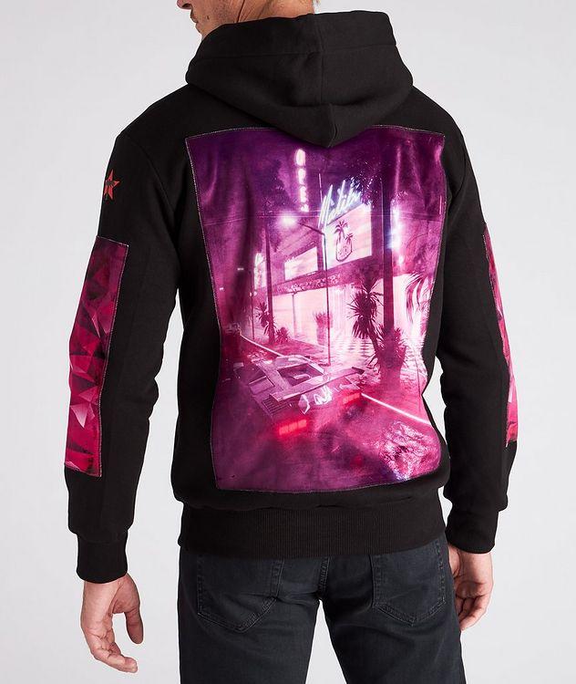 Malibu Purple Print Cotton Hoodie picture 4