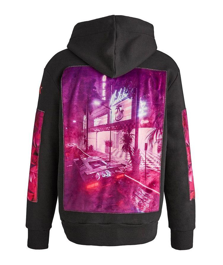 Malibu Purple Print Cotton Hoodie image 0