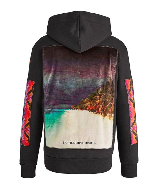 Beach Print Cotton Hoodie picture 1