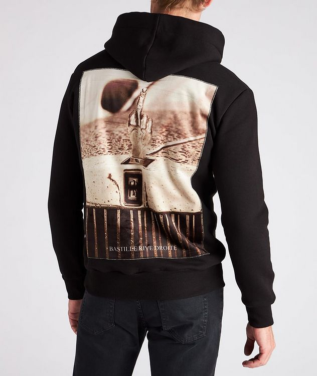 Finger Print Cotton Hoodie picture 4