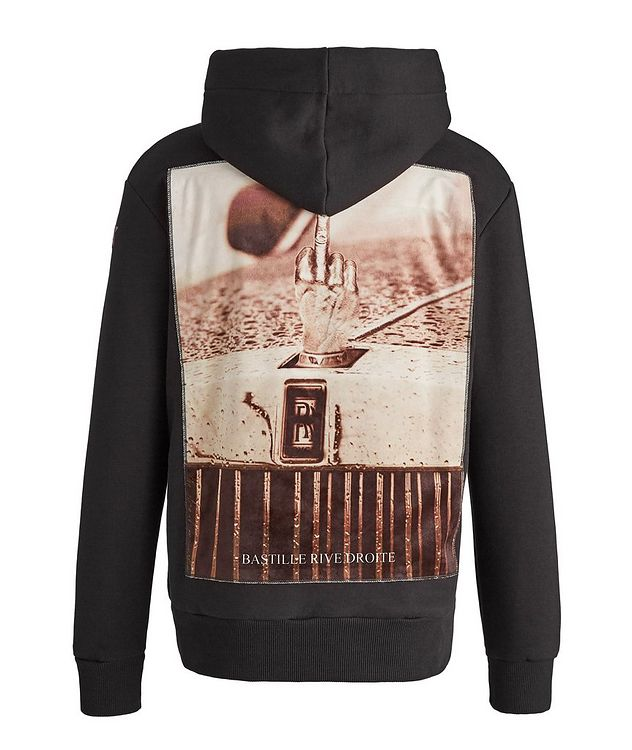 Finger Print Cotton Hoodie picture 1