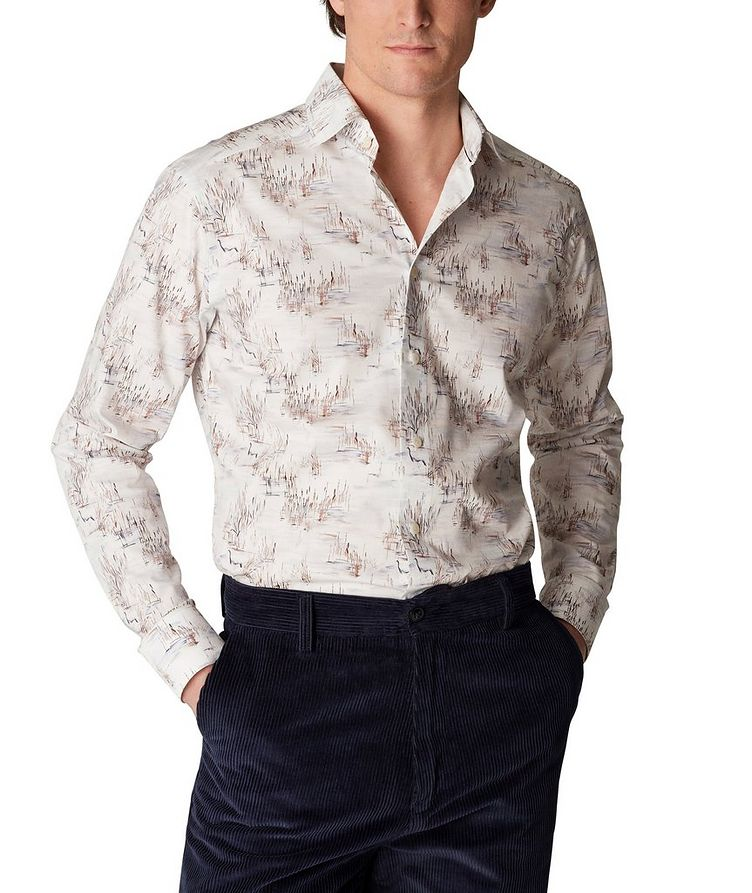 Slim Fit Crane Print Shirt image 1