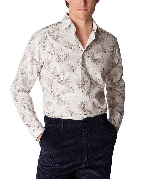 Slim Fit Crane Print Shirt picture 2