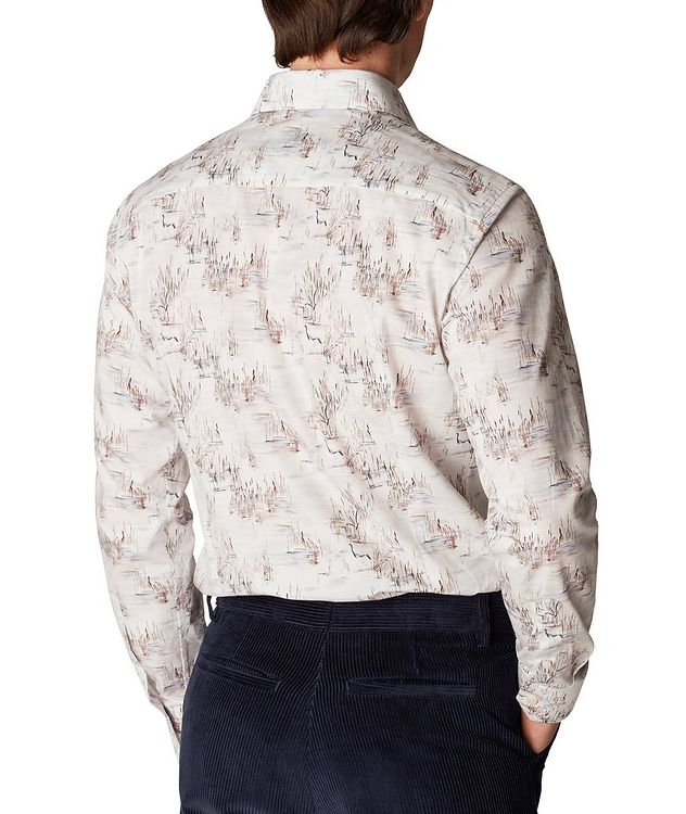 Slim Fit Crane Print Shirt picture 3