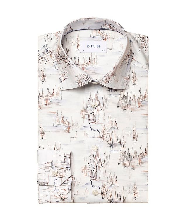 Slim Fit Crane Print Shirt picture 1