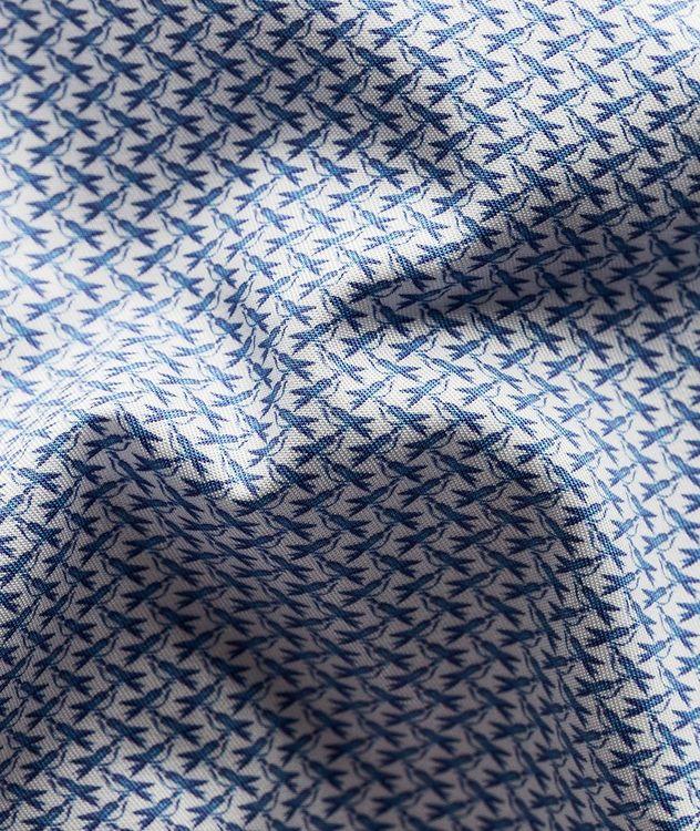 Slim Fit Bird Micro Print Shirt picture 6