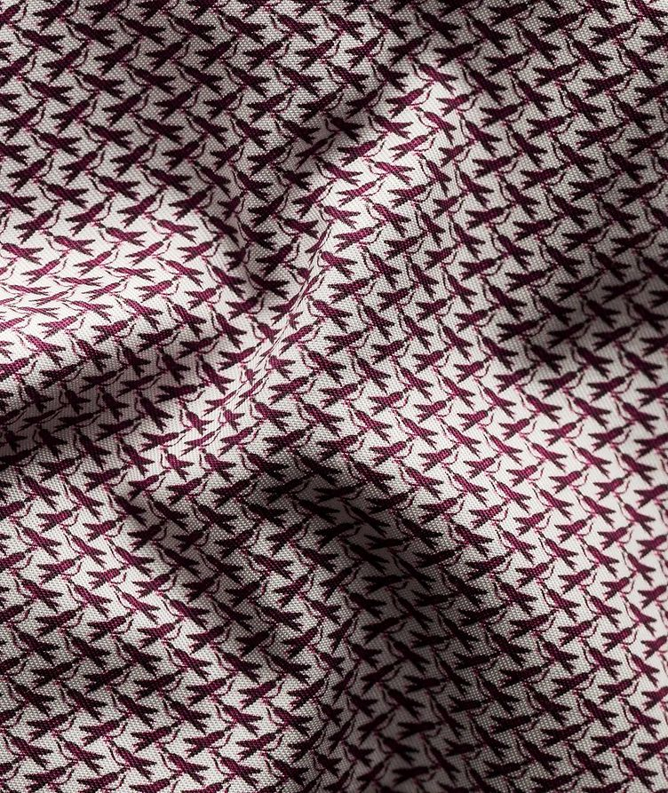 Slim Fit Bird Micro Print Shirt image 5