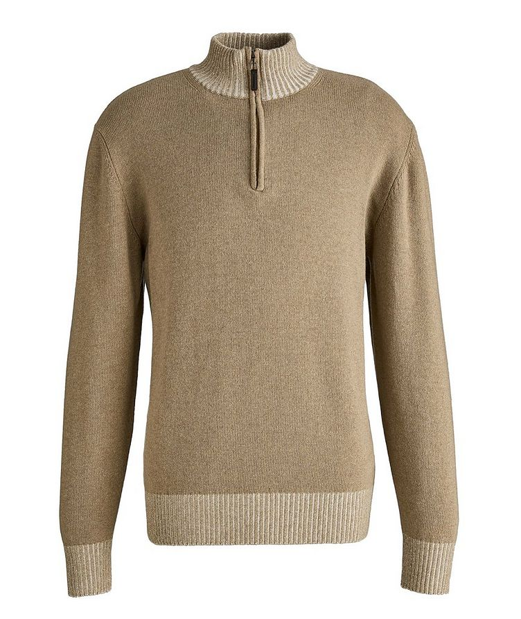 Half-Zip Wool-Blend Sweater image 0
