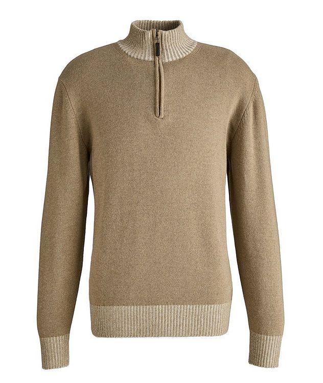 Half-Zip Wool-Blend Sweater picture 1