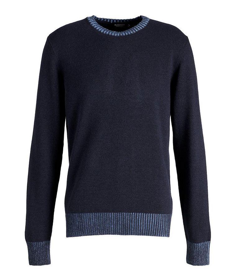 Wool-Blend Crew Neck Sweater image 0
