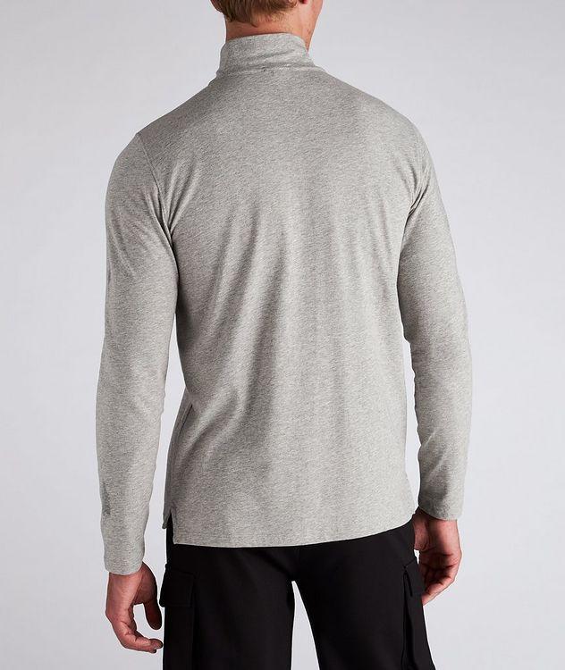 Half-Zip Long-Sleeve Cotton T-Shirt picture 3