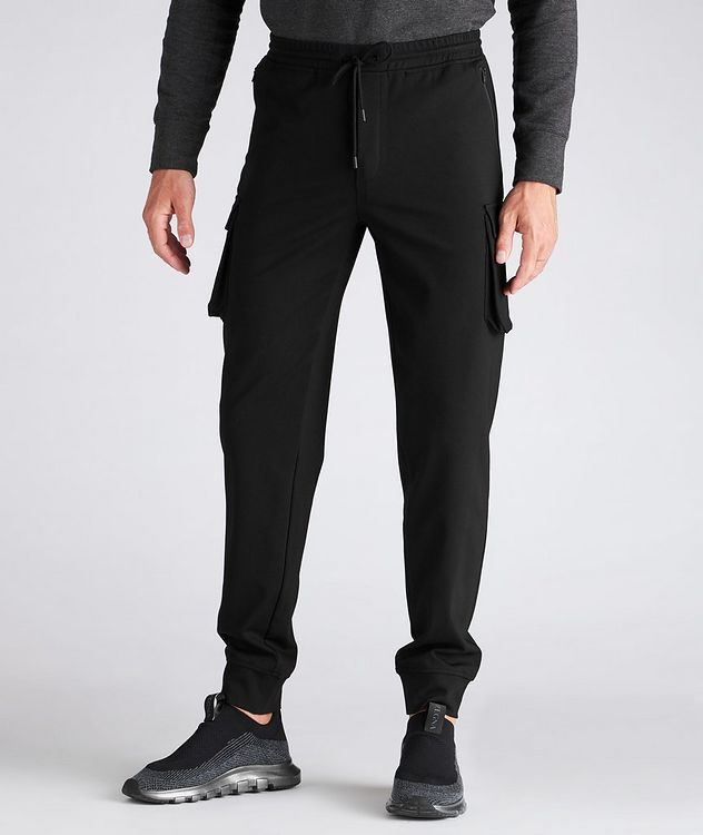 Drawstring Stretch Cargo Joggers picture 2