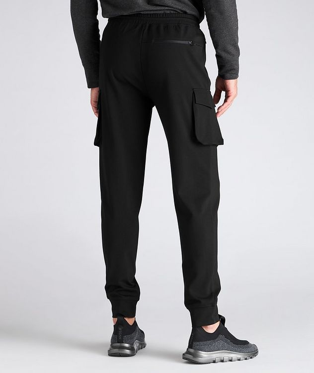 Drawstring Stretch Cargo Joggers picture 3
