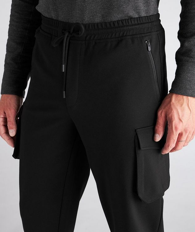 Drawstring Stretch Cargo Joggers picture 4