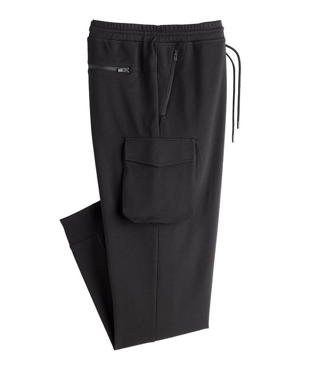 Drawstring Stretch Cargo Joggers picture 1