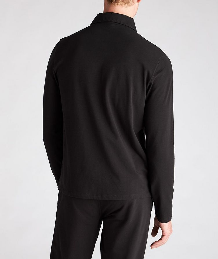 Long-Sleeve Stretch-Cotton Polo image 2