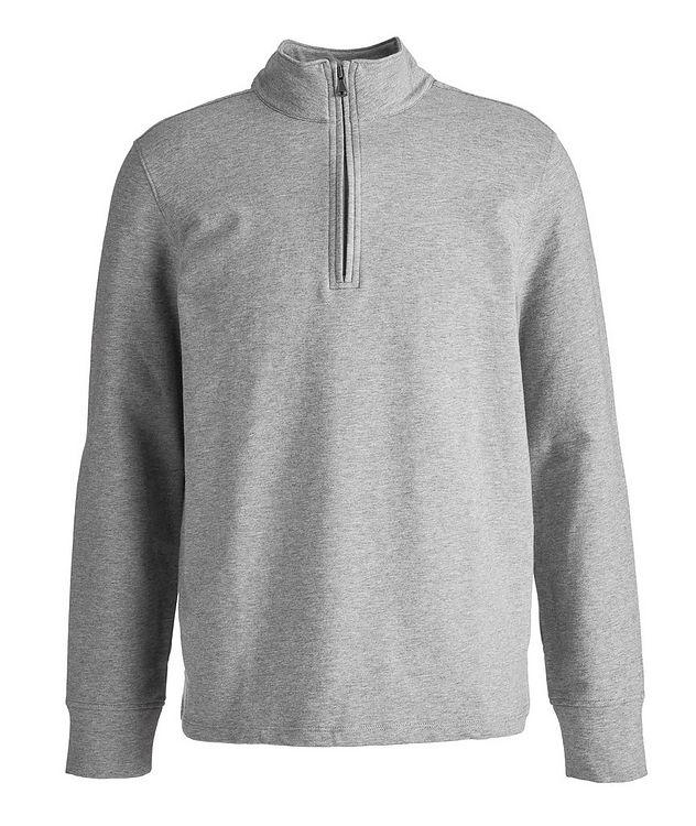 Half-Zip Stretch-Cotton Sweater picture 1