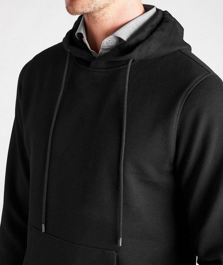 Faux Fur-Lined Side Zip Hoodie image 3