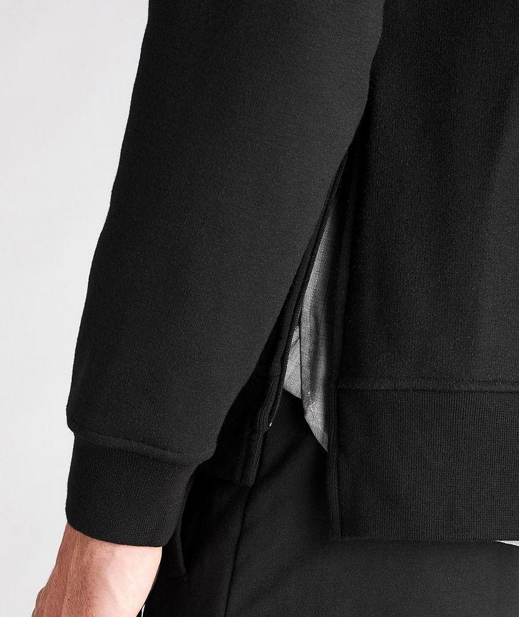 Faux Fur-Lined Side Zip Hoodie image 4