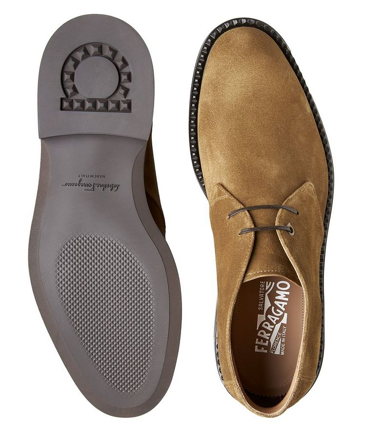 Narrow Suede Chukka Boots image 2