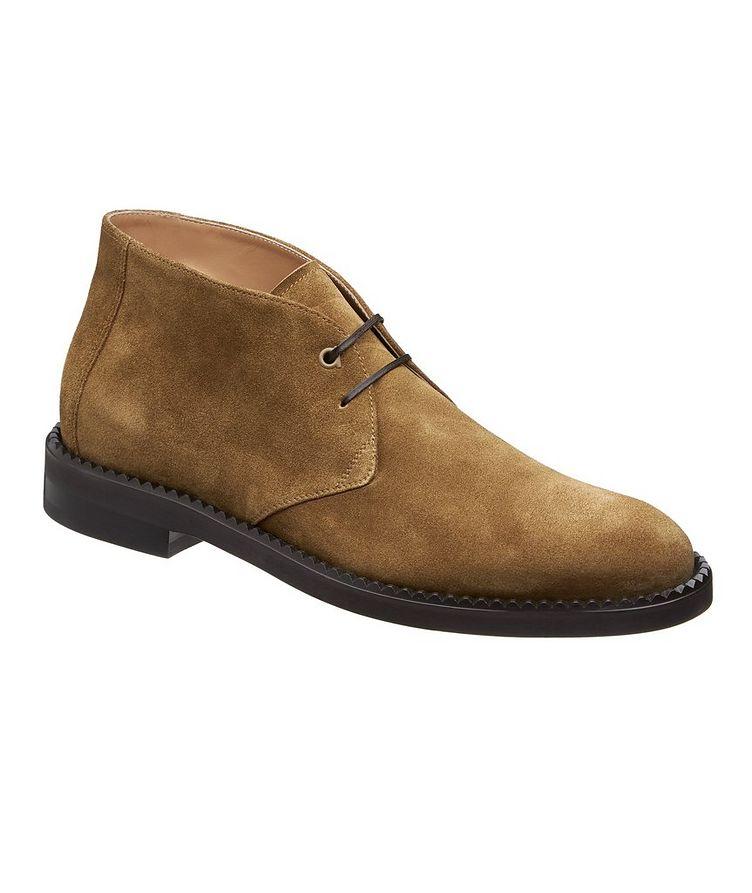 Narrow Suede Chukka Boots image 0
