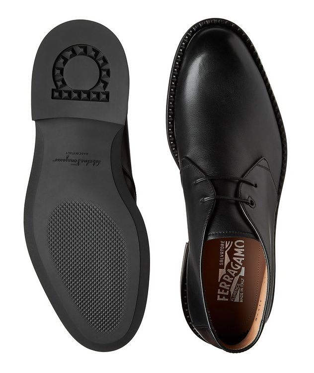 Narrow Leather Chukka Boots picture 3