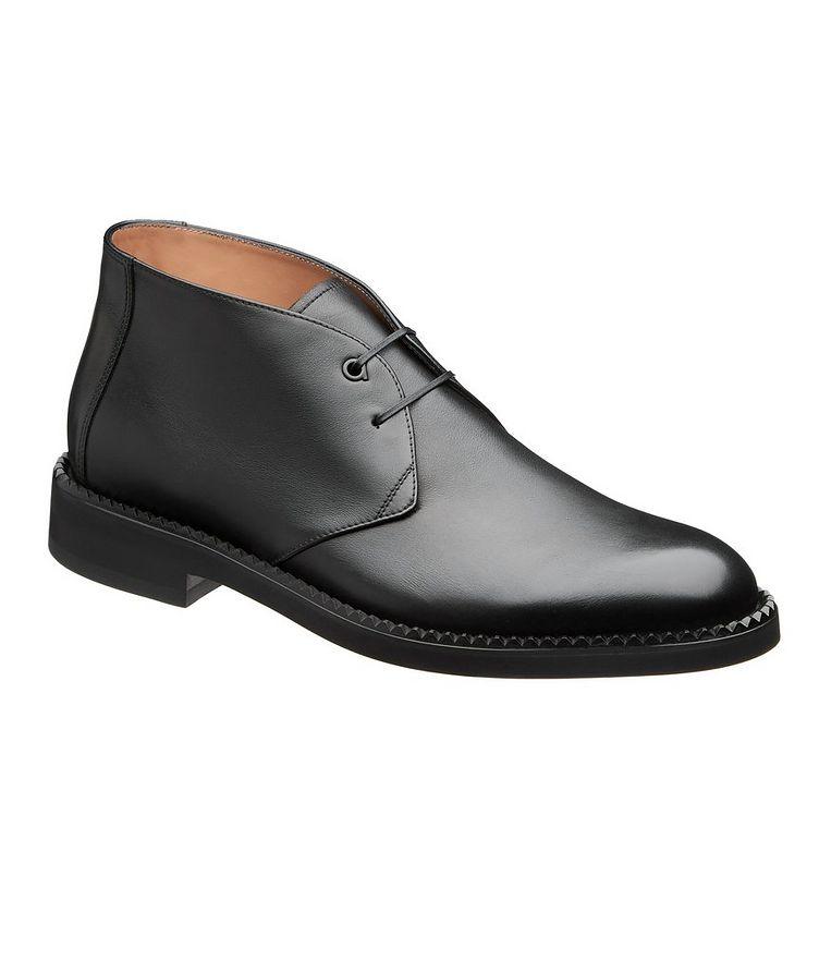 Narrow Leather Chukka Boots image 0