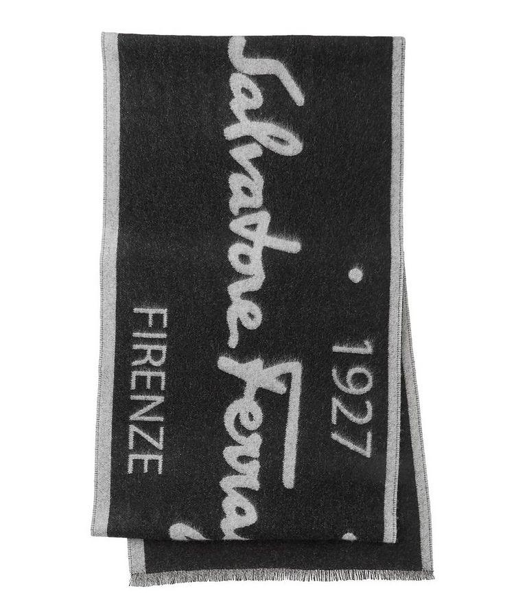 Logo Cotton, Cashmere & Silk Scarf image 0