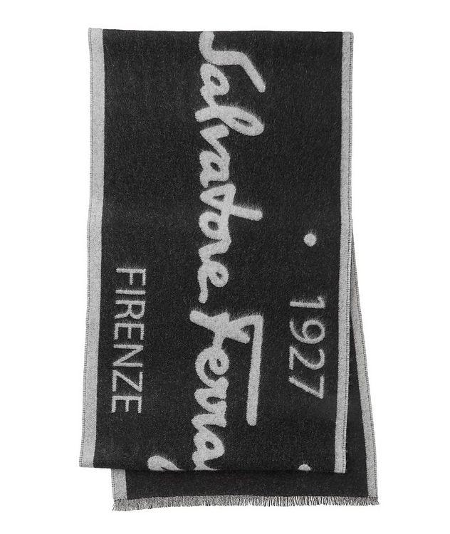 Logo Cotton, Cashmere & Silk Scarf picture 1