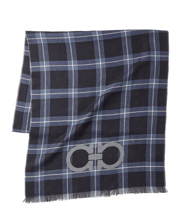Gancio Logo Cotton, Cashmere & Silk Scarf image 0