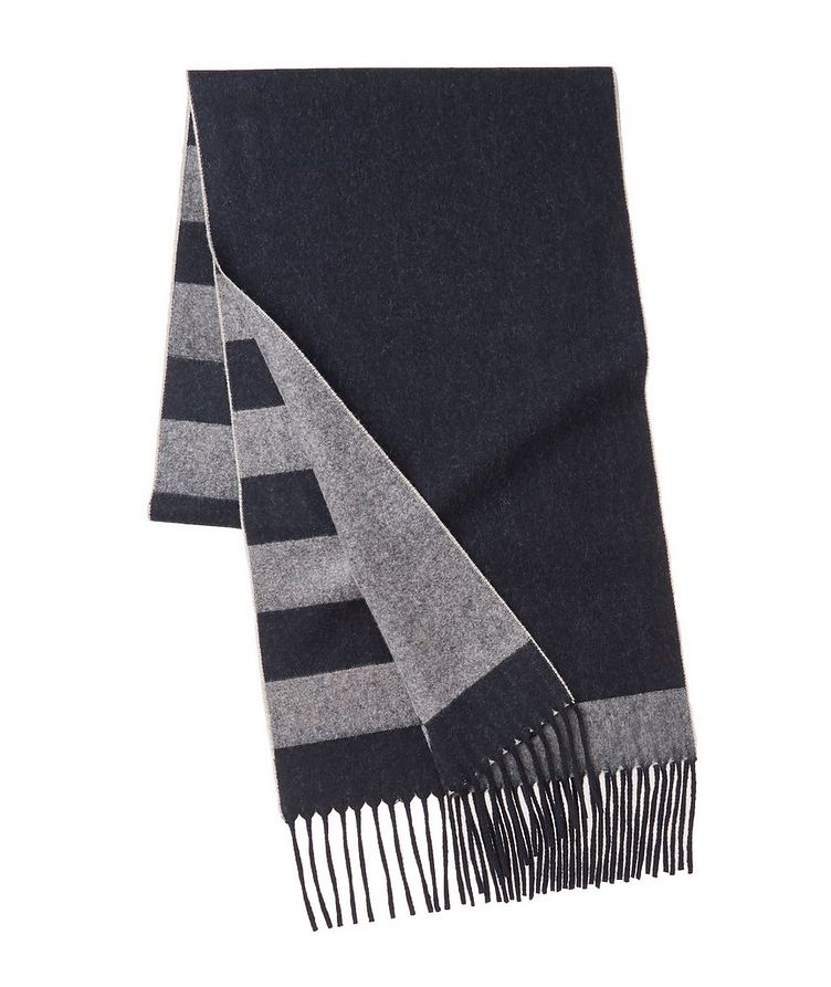 Striped Wool-Cashmere Scarf image 1