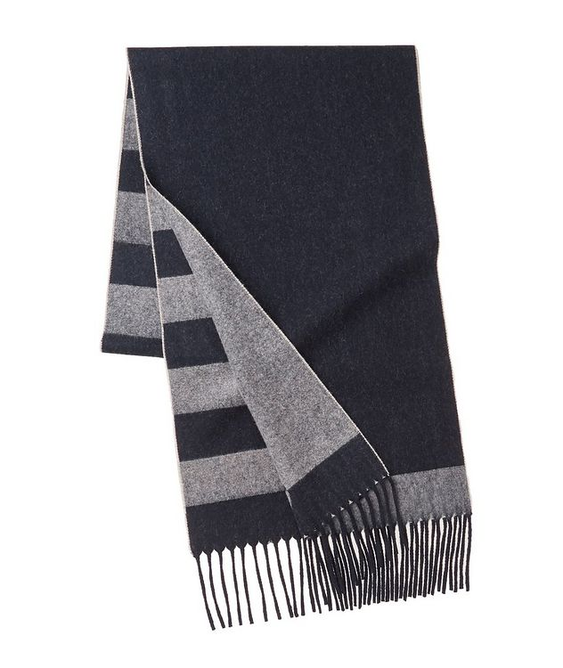 Striped Wool-Cashmere Scarf picture 2