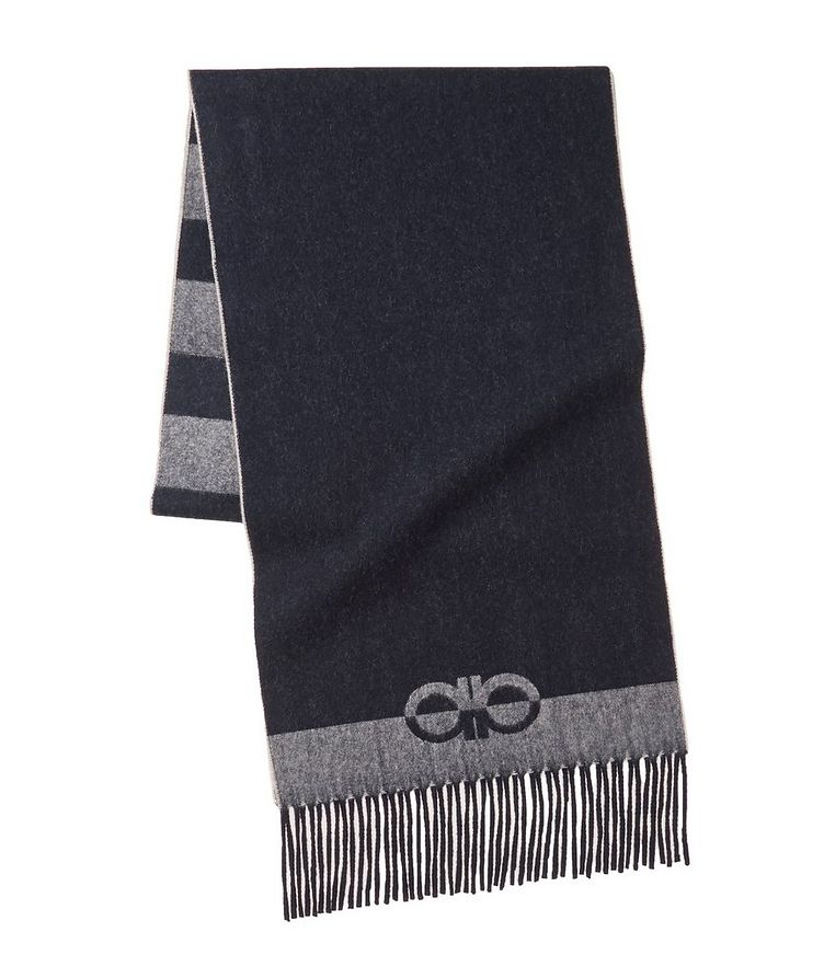 Striped Wool-Cashmere Scarf image 0