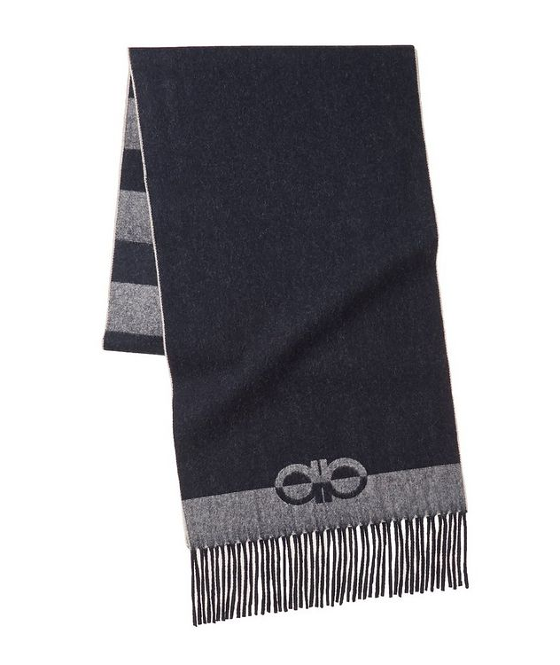 Striped Wool-Cashmere Scarf picture 1