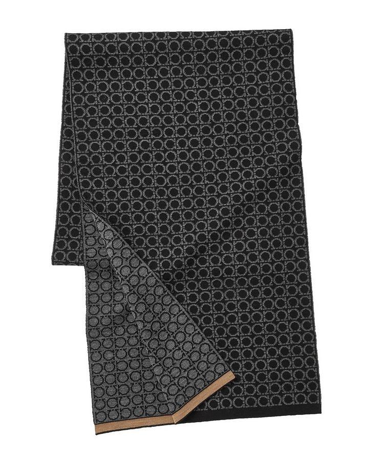 Gancio Logo Wool Scarf image 0