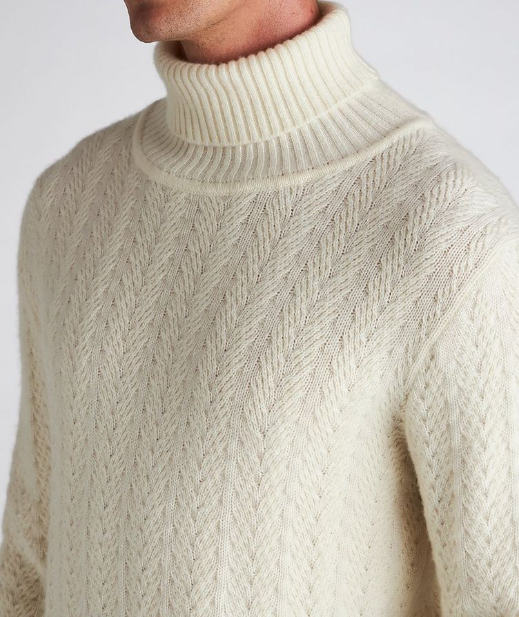 Cable Knit Cashmere Sweater image 3
