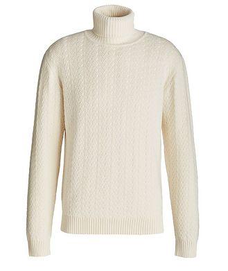 Maurizio Baldassari Cable Knit Cashmere Sweater