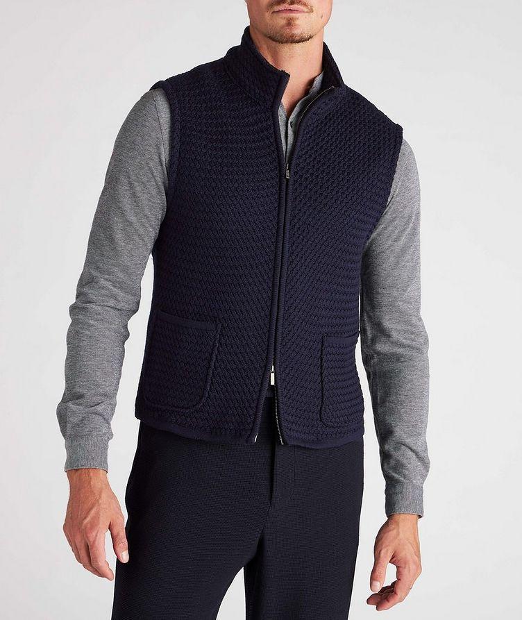 Bubble Knit Wool Vest image 1
