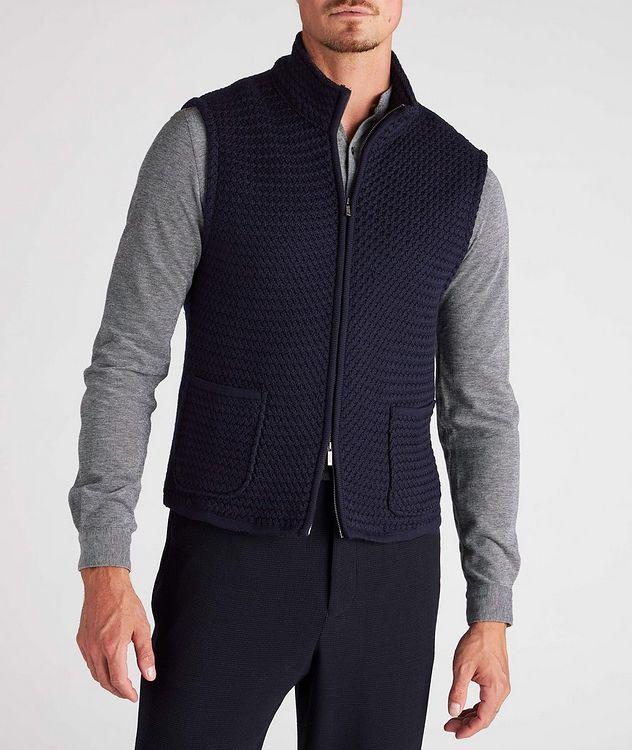 Bubble Knit Wool Vest picture 2