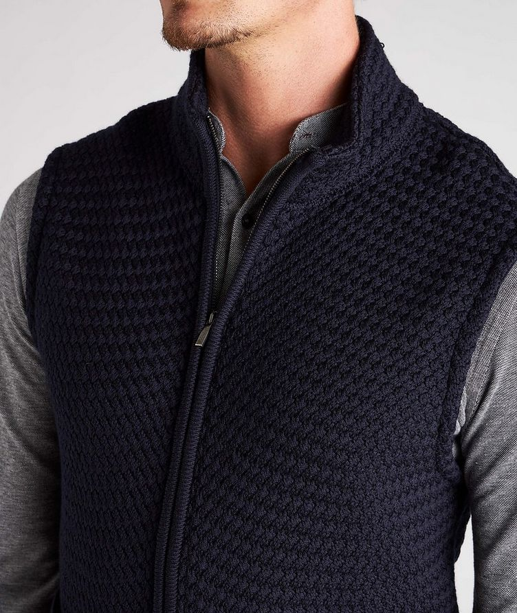 Bubble Knit Wool Vest image 3