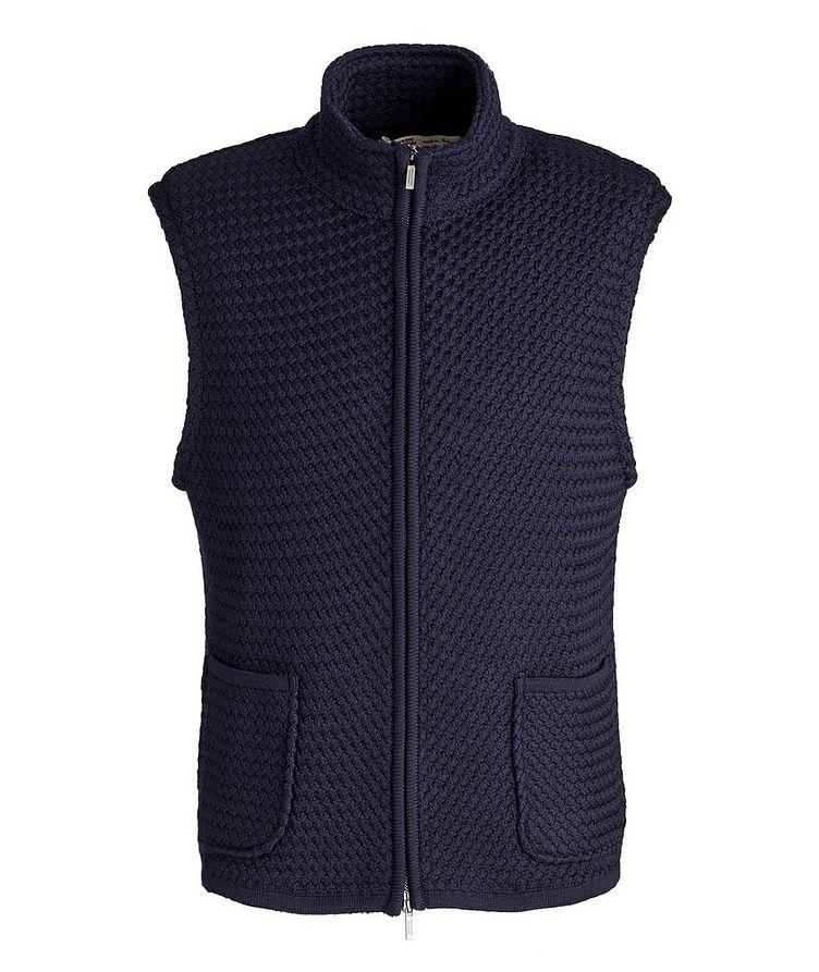 Bubble Knit Wool Vest image 0