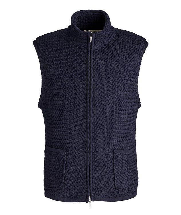Bubble Knit Wool Vest picture 1