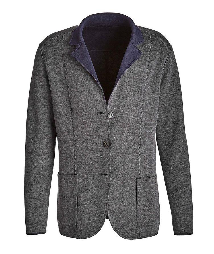 Reversible Knit Wool Cardigan image 1